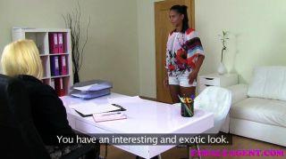 Femaleagent Busty Nuevos Agentes Primer Sexo Cinta
