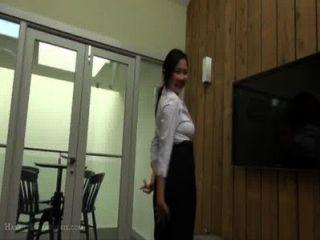 Anal Busty Asiática Adolescente Oficina Dama Cosplay Diversión