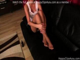Amanda Cruz Nylon Footjob Corrida Video
