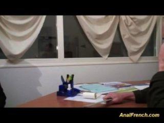 Adolescentes Franceses Primero Gangbang Anal