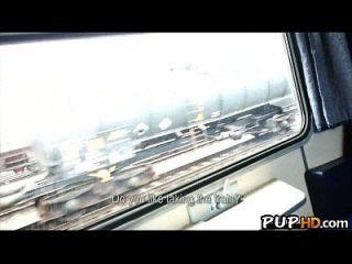 Fucking Girl En El Tren Para El Dinero En Efectivo Mea Melone 1