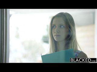 Blacked Petite Rubia Teen Rachel James Primera Gran Polla Negra