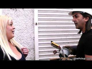 Reunión Con Rubia Gordita Conduce Al Sexo