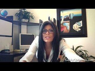 Alivio Fiscal Con Gran Tit Latina Gabby Quinteros