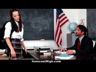 Chica De La Escuela Innocenthigh Desesperada Por La Polla Del Profesor
