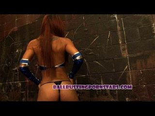 Mortal Kombat Femdom Ballbusting Sexo Con Cristal Lopez (kitana Y Escorpión)