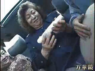 Abuelita Asiáticos En Autobús
