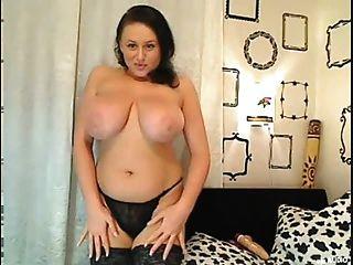 Busty Big Boobs Chica En Cam Con Enormes Tetas