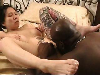 Puta Japonesa Obtiene Polla Negro En Vegas Cireman