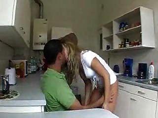 Esposa Se Folla En La Cocina