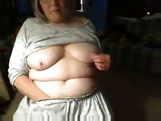 Cachonda Fuckable Abuela Divirtiéndose En La Webcam