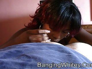 Puta Negra Que Consigue Jizzed Encendido