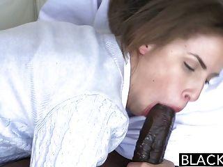 Trenzado Negro Natasha Blanco Con Dos Pollas Monstruo