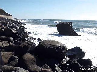 Tetona Rubia Milf Playa Pública Intermitente