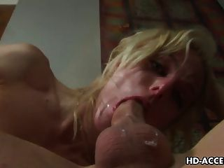 Rubia Puta Angela Sexo Hardcore De Piedra Con La Polla Larga Delgada!