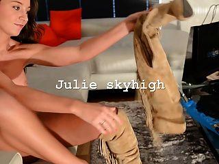 Cute Girl Nude Ajuste Gml Muslo Botas Altas Y Grandes Tetas