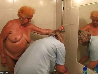 Oldnanny Viejo Gordito Dama Abuelita Chupar Dick Y Masturbarse