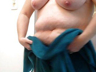 Esposa Bbw Secando Su Coño Peludo Y Tetas Grandes