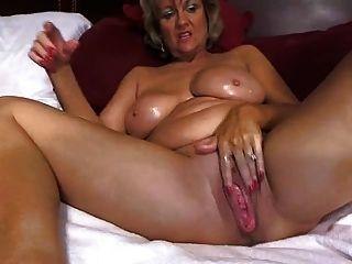 Mamá Impresionante Grande Tited Se Masturba