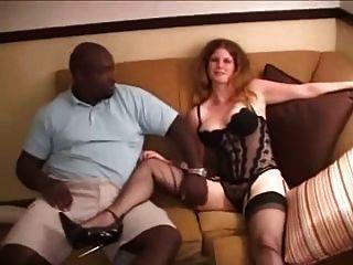 Rubia, Esposa, Teniendo, Grande, Negro, Dick