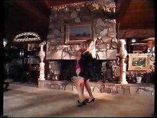 Escena De La Muchacha De La Muchacha Del Vintage Con Una Gran Actriz.