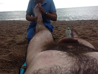 Masaje Desnudo En La Playa