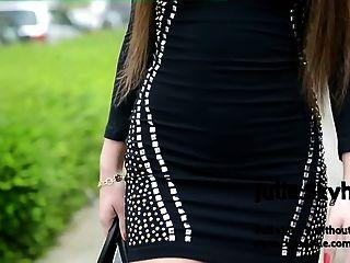 Mejor De Julie Skyhigh Tacones Altos, Minifalda Enganchando Público