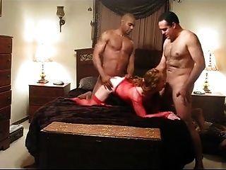 Mujer, Teniendo, Duro, Bbc, Golpeando, Frente, Esposo