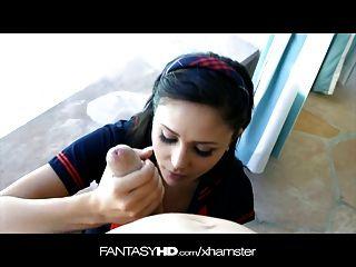 Fantasyhd Virgen Adolescente Toma Enorme Polla Junto A La Piscina