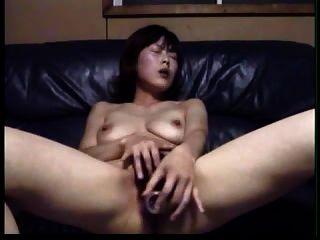 Caliente Masturbándose Asiático