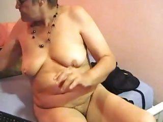 Abuelita Bbw Peluda Juega En La Cámara