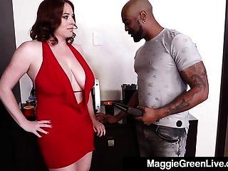 ¡la Rubia Maggie Verde Figurada Llena Folla Al Jefe Para Un Aumento!