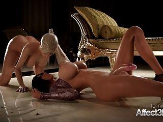 Rubia Cachonda Y Su Novia De Grandes Tetas Disfrutando Del Sexo Futa