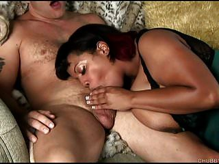 Tetona Bbw Negro Belleza Chupa Y Folla Por Un Bocado De Cum