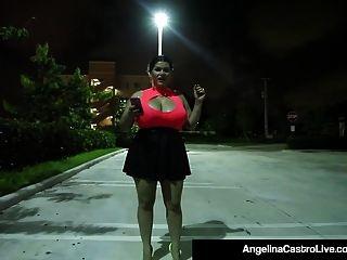 Cubana Bbw Angelina Castro Chupa La Polla De Un Extraño Para Obtener Cum