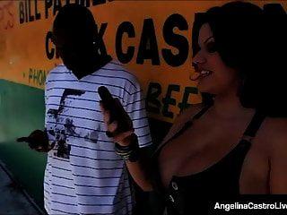 Bbw Cubana Angelina Castro Embestida Por Una Gran Polla Negra!