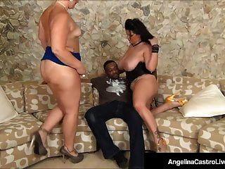 Cubana Bbw Angelina Castro Hace Anal 3way Con Gran Polla Negra