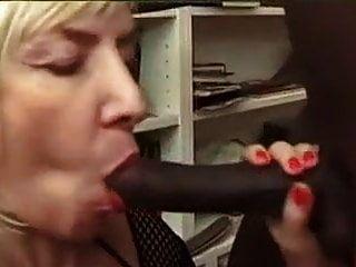 Francés Rubia Granny Anal